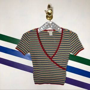 NEW Urban Outfitters rainbow crop top